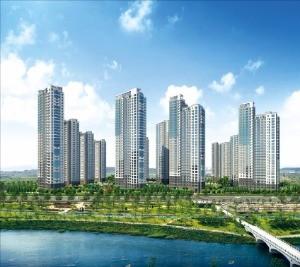 인천 청라 국제금융단지 한양수자인레이크블루