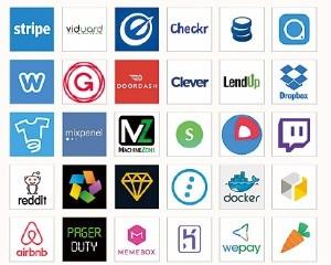 여기 있는 회사의 공통점을 아시나요? 모두 Y콤비네이터의 투자를 받은 회사입니다.