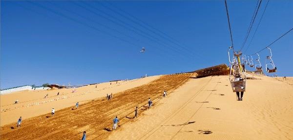 사포터우 사막 풍경구 모래썰매 리프트