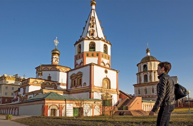 이르쿠츠크 시내의 러시아정교 교회