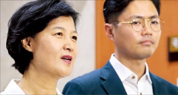 추미애 더불어민주당 당 대표 후보가 15일 국회 정론관에서 기자회견을 하고 있다. 연합뉴스