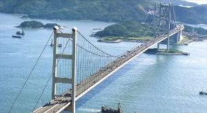 홍콩에서 가장 긴 다리인 칭마대교.