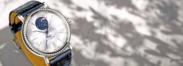 IWC가 처음으로 여성을 겨냥해 만든 시계 '포르토피노 오토매틱 문페이즈 37'