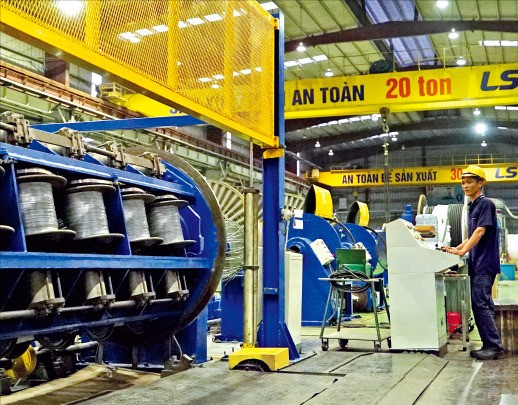 베트남 하이퐁시에 있는 LS비나 생산 공장의 모습. LS전선 제공