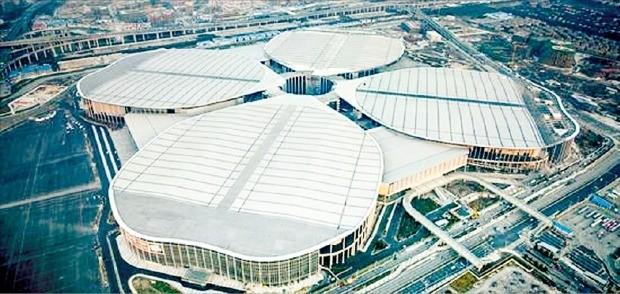 단일 전시 건물로 세계에서 가장 큰 상하이국립전시컨벤션센터(NECC). NECC 제공