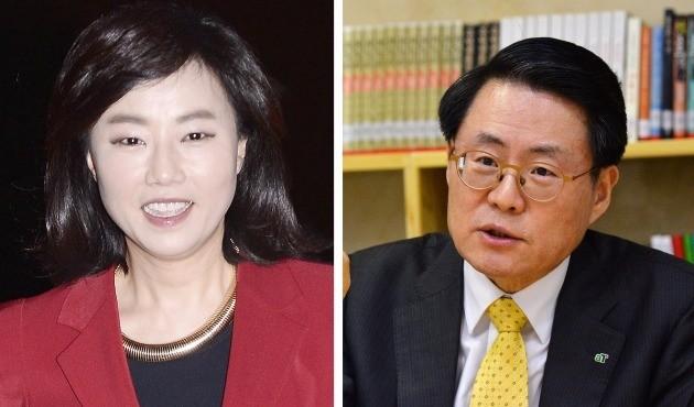 (왼쪽부터) 조윤선 문화체육관광부 장관 후보자와 김재수 농림축산식품부 장관 후보자.