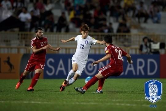 한국 대 시리아. 대한축구협회 제공
