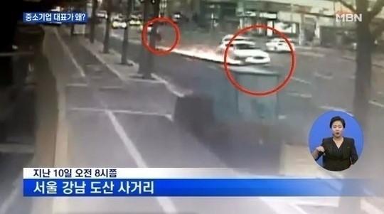 몽드드 전 대표 강남 벤틀리 사건 /사진=당시 사고 화면 MBN