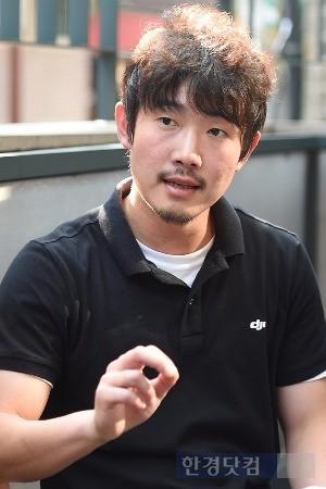 문 대표는 DJI 드론의 차별화된 경쟁력으로 항공 촬영 기술을 꼽았다. / 사진=변성현 한경닷컴 기자