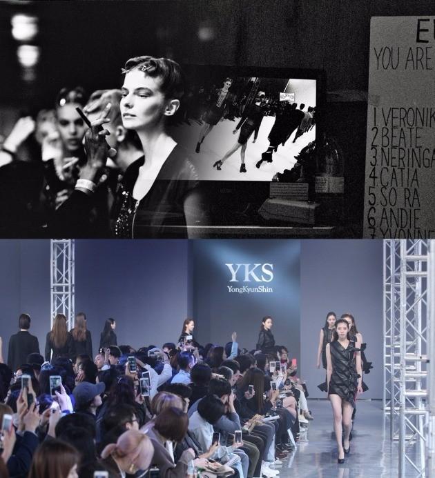 신용균, 최수지 디자이너가 전개하는 브랜드 YKS의 콜렉션 모습. /사진=알로곤 제공