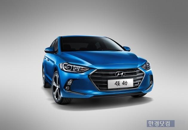 현대자동차가 지난 3월 중국에 출시한 신형 아반떼의 중국형 모델 '링둥'. (사진=현대차 제공)