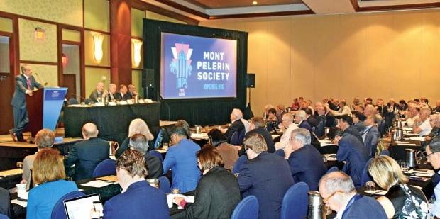 미국 플로리다주 마이애미 인터컨티넨털마이애미호텔에서 지난달 열린 '2016 몽펠르랭소사이어티 연례총회'에는 세계 40여개국에서 350여명의 시장 경제학자들이 참석했다. 마이애미=박수진 특파원