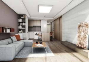 [방배 마에스트로③평면]소형 귀한 강남 역세권, 방 2개 갖춘 아파트