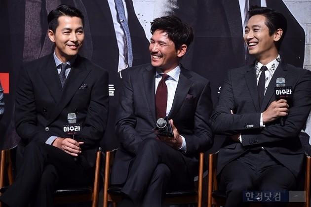 영화 '아수라' 제작보고회, 정우성, 황정민, 주지훈, 사진 / 최혁 기자