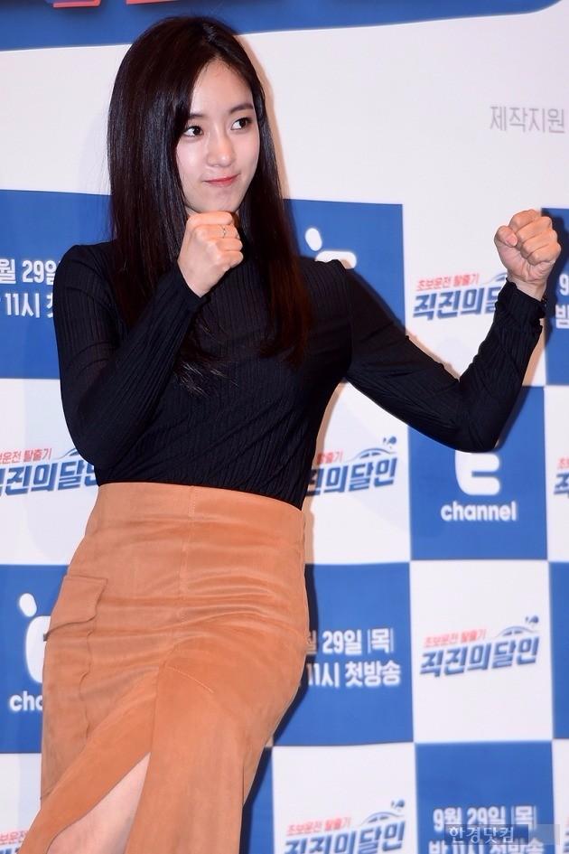'직진의 달인' 티아라 은정 /사진=최혁 기자