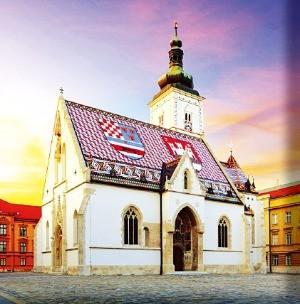 크로아티아 자그레브에 있는 성 마르코 교회