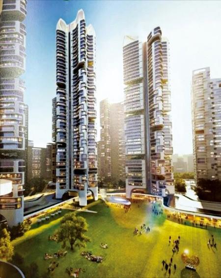 서울 대치동 은마아파트 재건축 설계업체로 선정된 희림종합건축사사무소의 초고층 설계안.