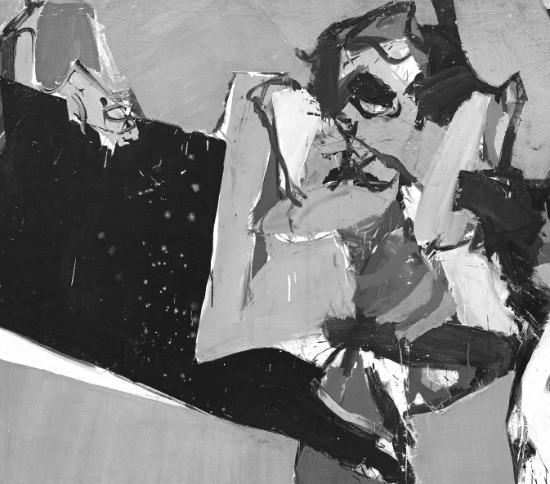 서울 소격동 국제갤러리에 전시된 최욱경 화백의 1966년 작 '화난 여인'. 국제갤러리 제공
