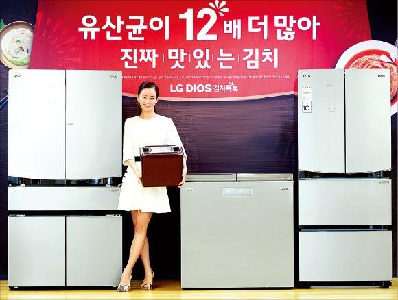 LG전자가 11일 출시한 김치냉장고 '디오스 김치톡톡'. LG전자 제공