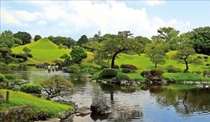 구마모토 시내에 있는 스이젠지 공원
