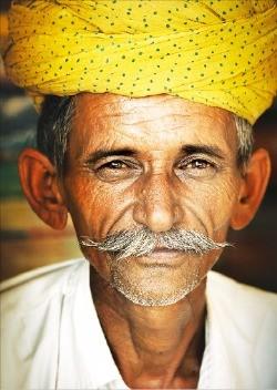 인도 라자스탄주에서 만난 시골노인.