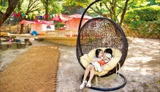 그랜드하얏트서울은 인근 남산에 '그랜드 캠핑존'이라는 330여㎡의 야외공간을 생일 이벤트존으로 꾸몄다.