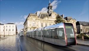 프랑스 투르에 다니는 트램 모습. 대전시 제공