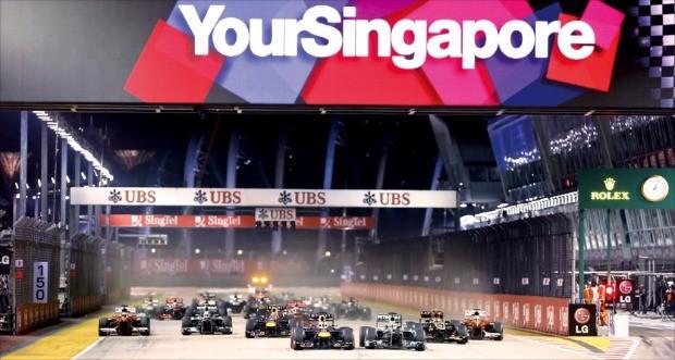 그랑프리 시즌 싱가포르 대회를 치르는 모습.