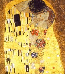 구스타프 클림트의 대표작품인 '키스'.