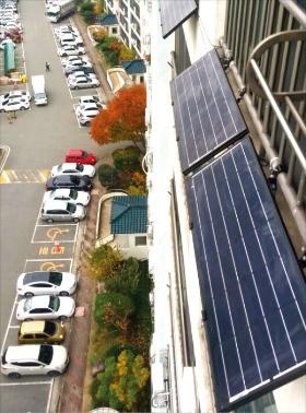 대구 방촌동 우방강촌마을 아파트에 태양광 발전설비가 설치돼 있다. 대구시 제공