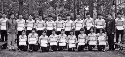 미국 화재폭발조사관 시험에 합격한 선린대 응급구조과 학생들. 포스코  제공