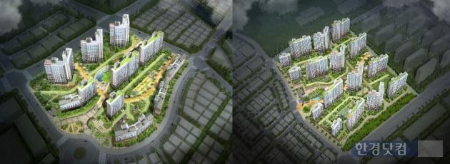 (왼쪽부터)동탄2신도시 중흥S-클래스 에코밸리와 에듀하이 조감도
