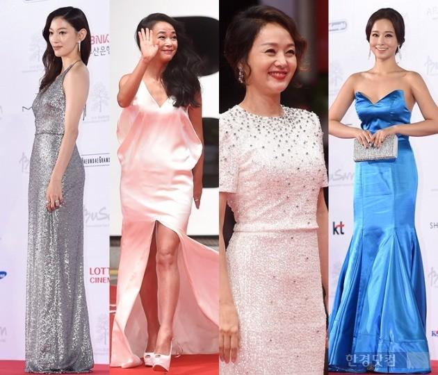 배우 이엘, 조민수, 배종옥, 서리슬이 형형색색의 드레스를 입고 레드카펫을 밟았다.