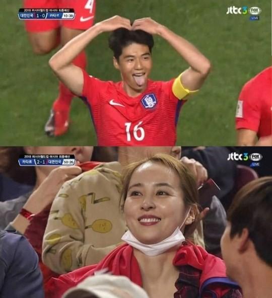 한혜진 기성용  JTBC 방송 캡처