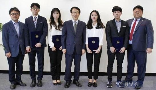 세광회의 장학금 수여식 후 기념촬영 모습. / 세종대 제공