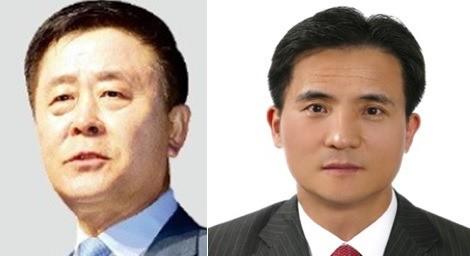 현대자동차 곽진 전 국내영업본부장과 신임 이광국 영업본부장.