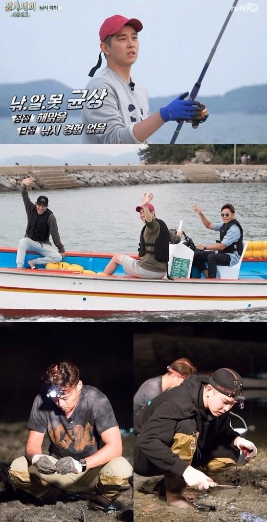 윤균상이 '삼시세끼'에서 새로운 매력을 뽐내는 중이다. /사진=tvN