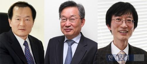 KAIST 교협 추천 총장 예비후보자 3인 (왼쪽부터) 경종민·박오옥·이용훈 교수.