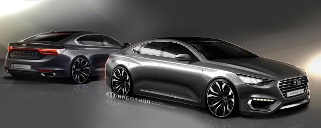 자동차 디자인 업체 브렌톤이 올 상반기 공개한 신형 그랜저 예상도. (사진 출처=브렌톤닷컴)