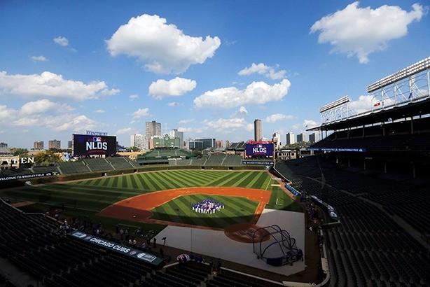 시카고 컵스의 홈 구장인 리글리필드. 내셔널리그 디비전십시리즈가 열릴 당시의 모습. 사진=컵스 트위터