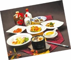 그랜드앰배서더서울 홍보각의 불도장 코스 요리