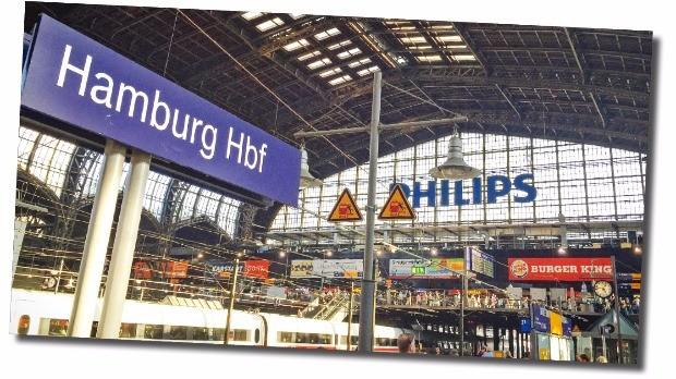 유리로 덮인 함부르크 역