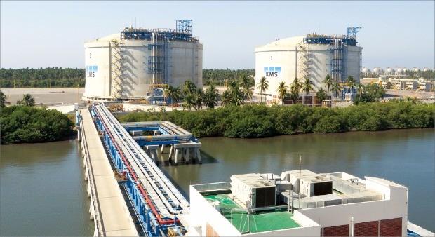 한국가스공사가 건설한 멕시코의 만사니오 LNG 인수기지 모습.