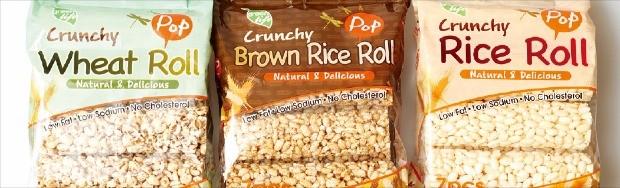 미국 시장에 맞춰 포장을 바꾼 쌀과자.