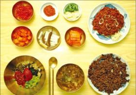 진주비빔밥 상차림