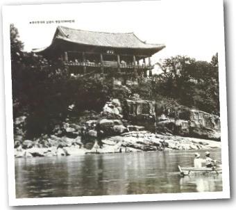 1930년대 촉석루와 남강 모습