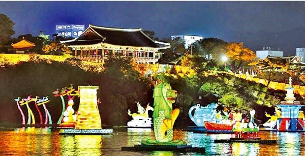 진주남강유등축제와 김시민대교