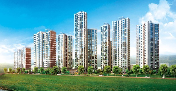 현대산업개발이 서울 풍납동에서 풍납우성 아파트를 재건축해 짓는 '잠실 올림픽 아이파크' 조감도. 현대산업개발 제공
