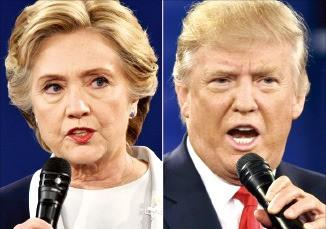 힐러리 클린턴 민주당 대선후보(좌) · 도널드 트럼프 공화당 대선후보(우)