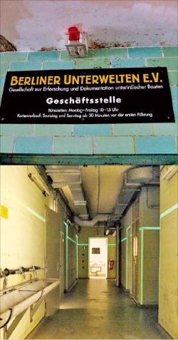 베를린 지하벙커의 내부.